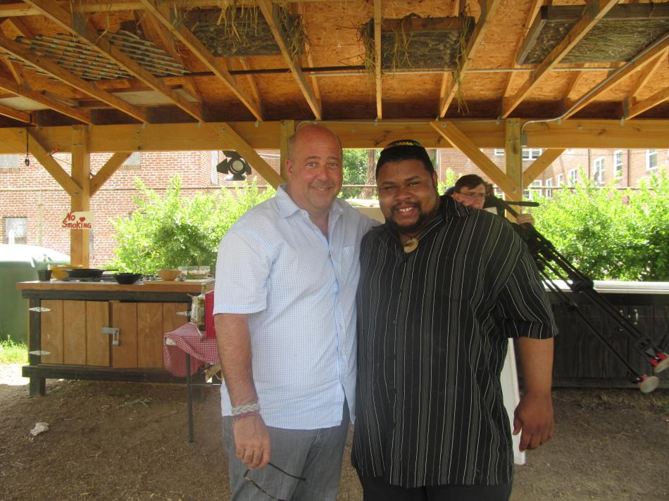 With Andrew Zimmern after taping part of Bizarre Foods America Washington DC