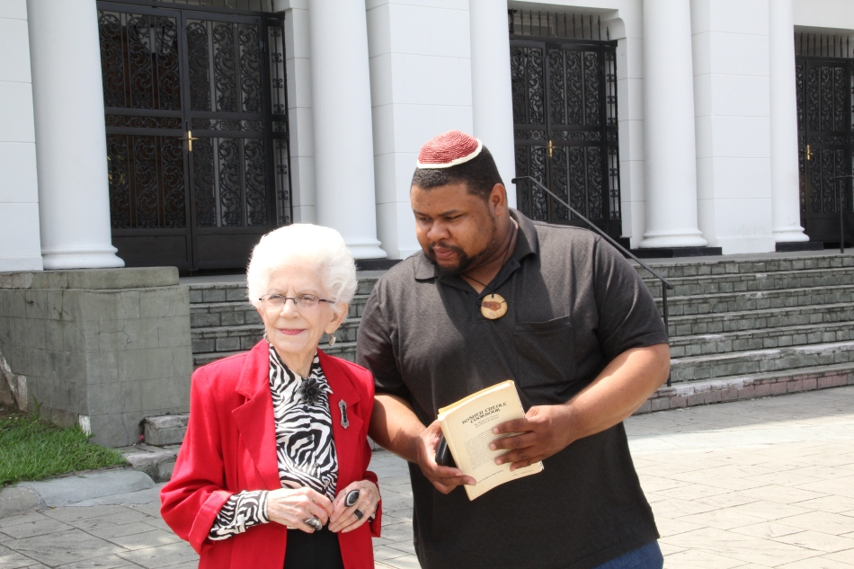 With Mrs. Mildred Covert of  New Orleans, author of the Kosher Southern, Kosher Creole and Kosher Cajun Cookbooks