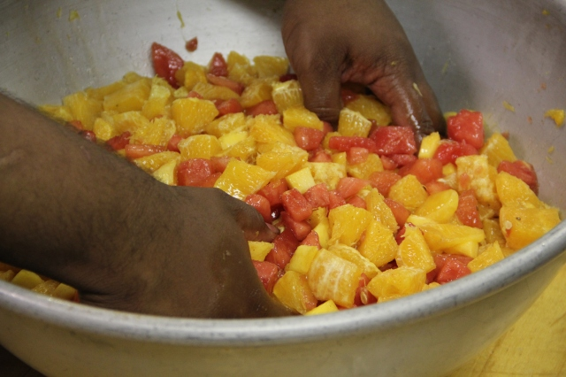 Making Carribean Compote