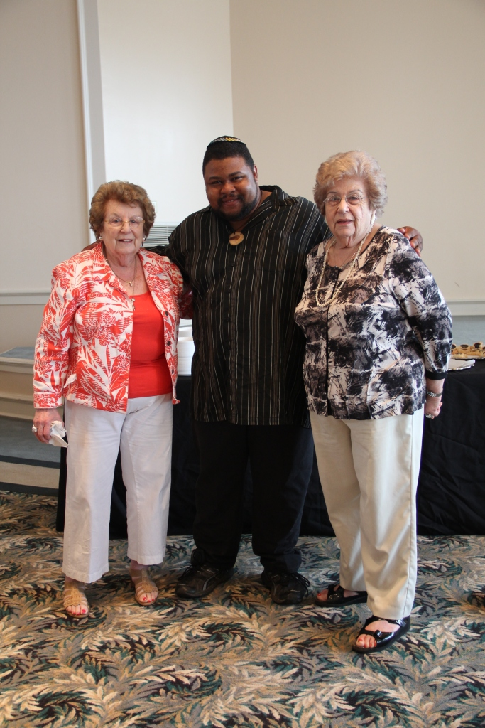 Posing with two sisters who survived the Holocaust and later fought for Civil Rights in Alabama; Temple Beth El, Birmingham 2012