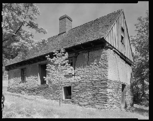 "Bremo Slave Quarters known as ""The Hotel,"" with two families to each floor and space for single men."