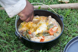 Recreating the Angolan food known to the first Africans at Jamestown, Virginia